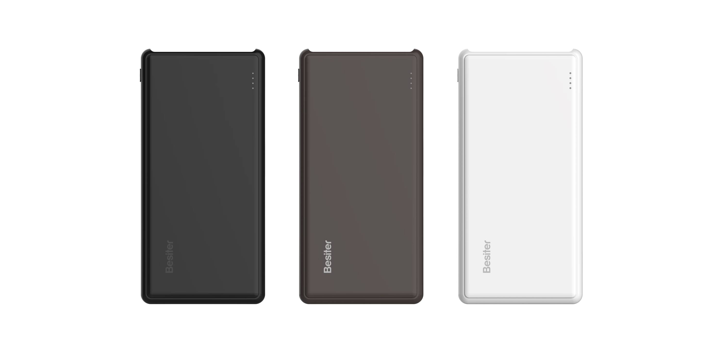 Slim Portable Power Bank with 10000 mAh Capacity