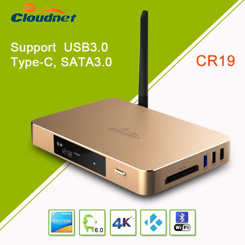RK3399 Rockchip 64 bit Penta Cora HDR10 and HLG HDR 4K2K 60FPS 10 bit coding Android 6.0 TV box