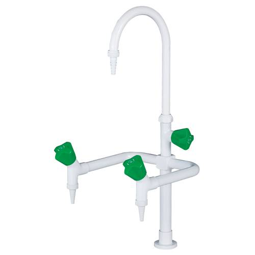 three-way outlet water faucet in lab furniture accessories for chemical laboratory