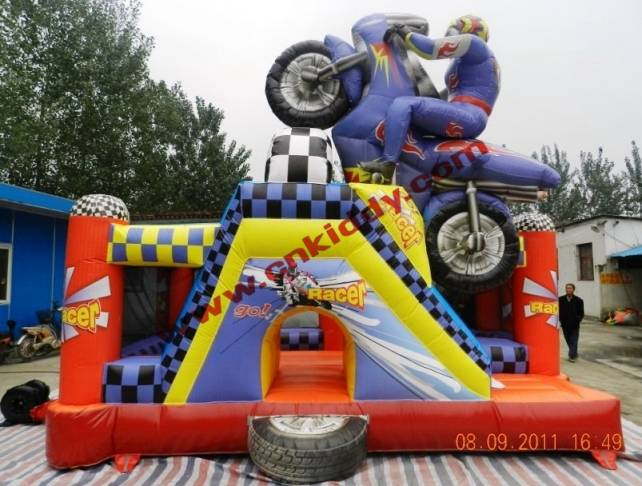 hot inflatable bouncer motorcycle