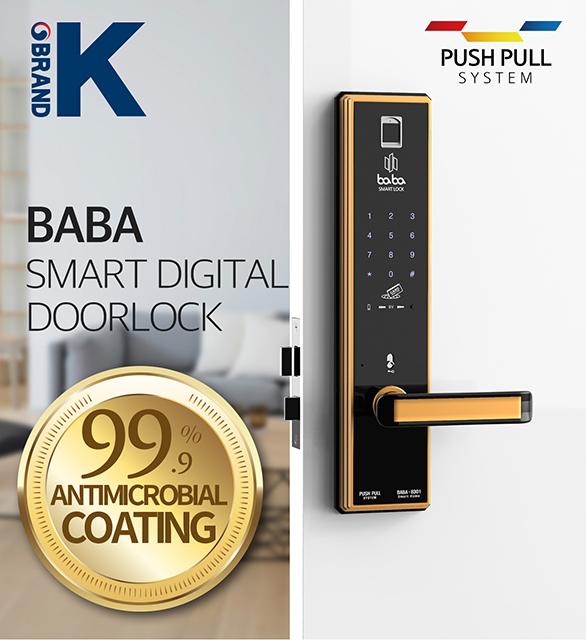 Smart fingerprint door lock BABA-8301 electronic handle door lock