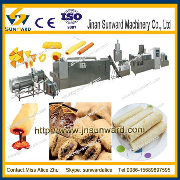 Automatic puffed snack food processing line