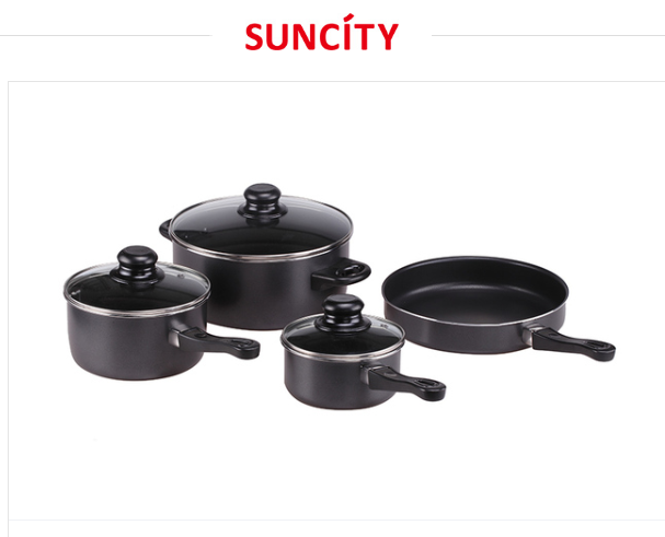 7PC Carbon steel straight shape cookware set