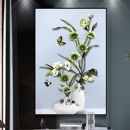Relife resin flower painting wall decorations home
