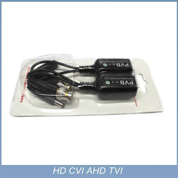 720P 1080P AHD CVI 1ch video balum with power for HD analog camera