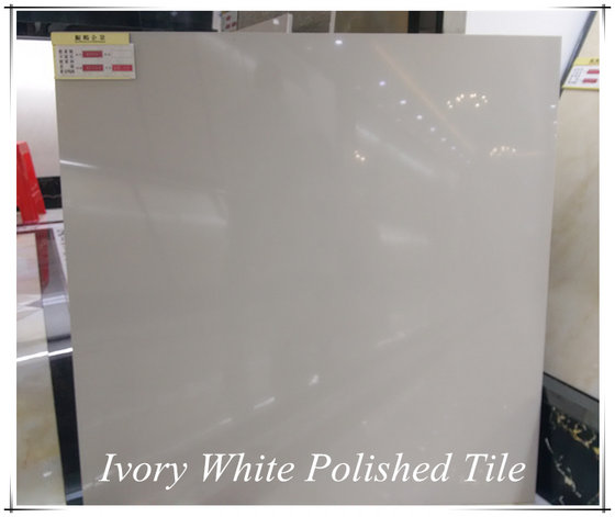 Foshan Factory Nano Finish Glossy Ivory White Cheap Polished Porcelain Floor Soluble Salt Tile 60x60