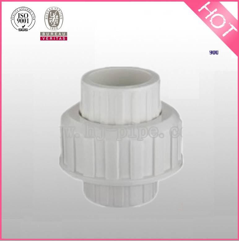 """HJ"" sch40 pvc plastic 4"" pipe union for agriculture and construction"
