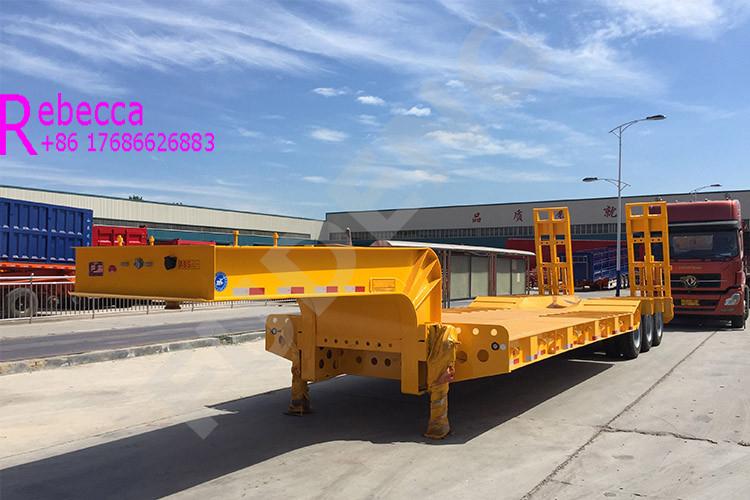 Heavy duty 3 axle 60 tons low bed truck trailer lowboy trailer for sale