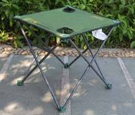 Simple fishing table with cup holder portable folding outdoor garden camping