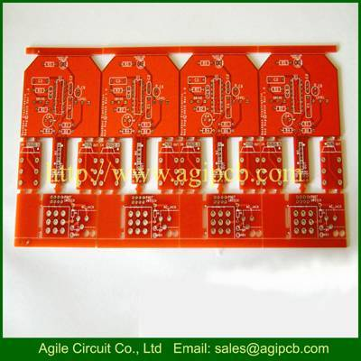 Double side PCB with 5 different boards mixed panel pcb low cost PCB manufacturer