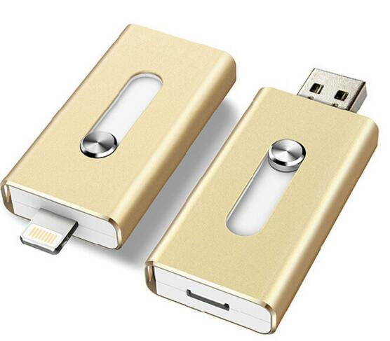 Hot sale made in china high speed metal OTG usb flash drive for iphone