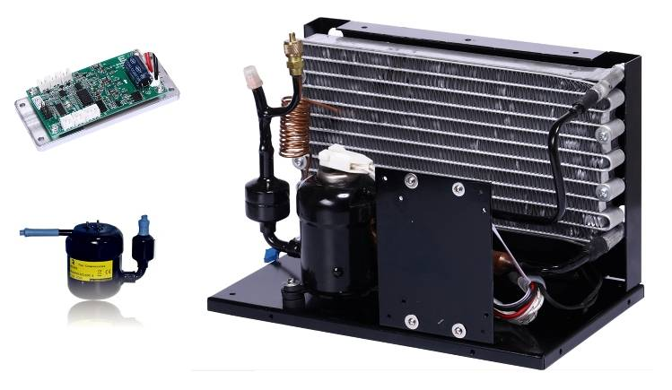Portable DC Compressor Condensing Unit for Refrigeration and Air Conditioning