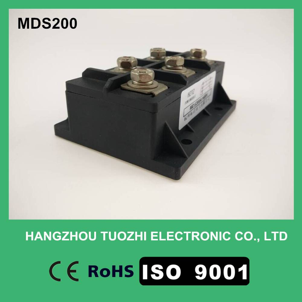 Three phase rectifier bridge module MDS200A1600V