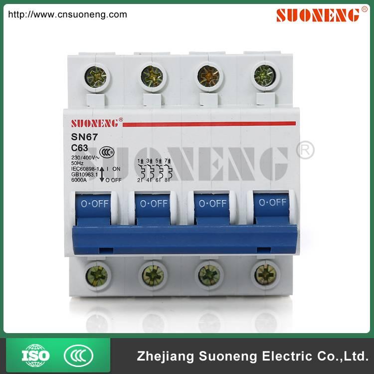 DZ47 ISO9001 32A 4 pole circuit breaker