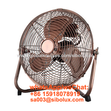 12 inch metal high velocity floor fan with 3 speeds oscillating for office and home appliances