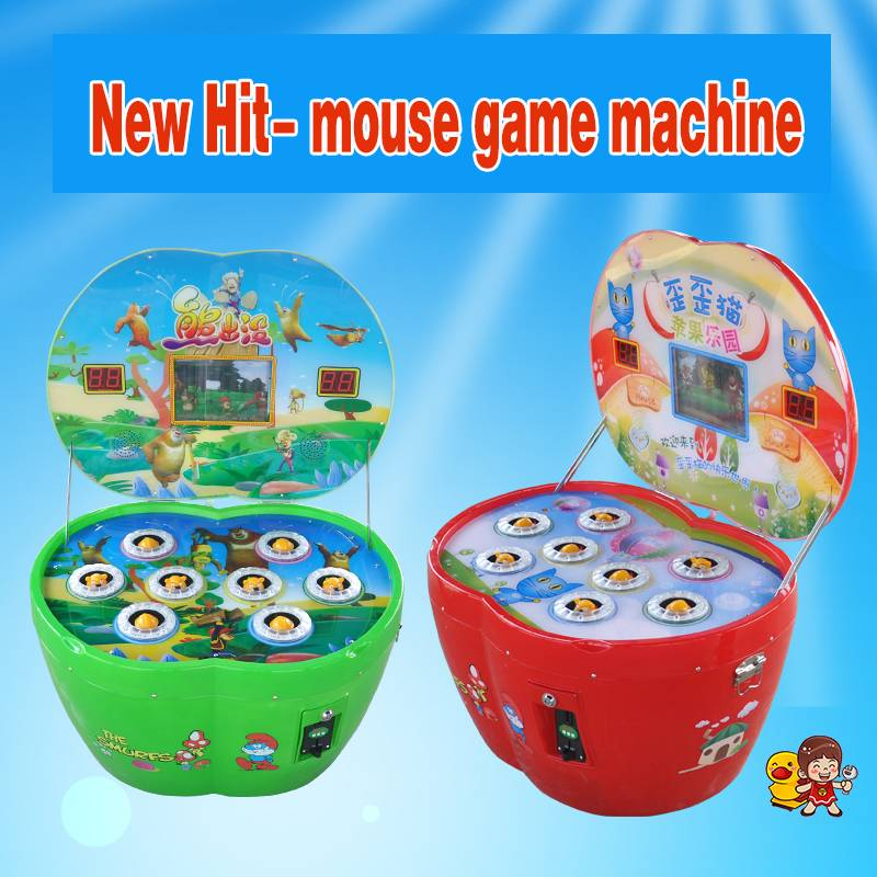 Hot sell hit mouse machine coin operated park amusement kid toy