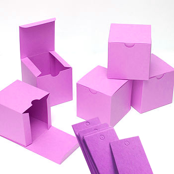 Folded paper box for chocolate wrap