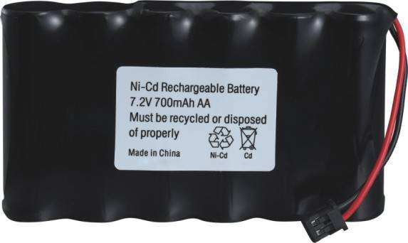 NiCD Battery 7.2V 700mAh AA Cells for toys.