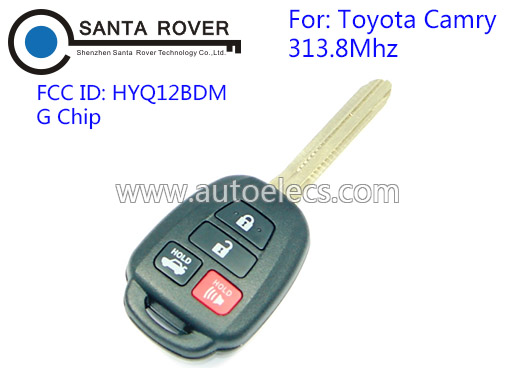 Discount Keyless Replacement 4 Button Automotive Remote Key For Toyota Camry 2012 2013 2014 G Chip 3