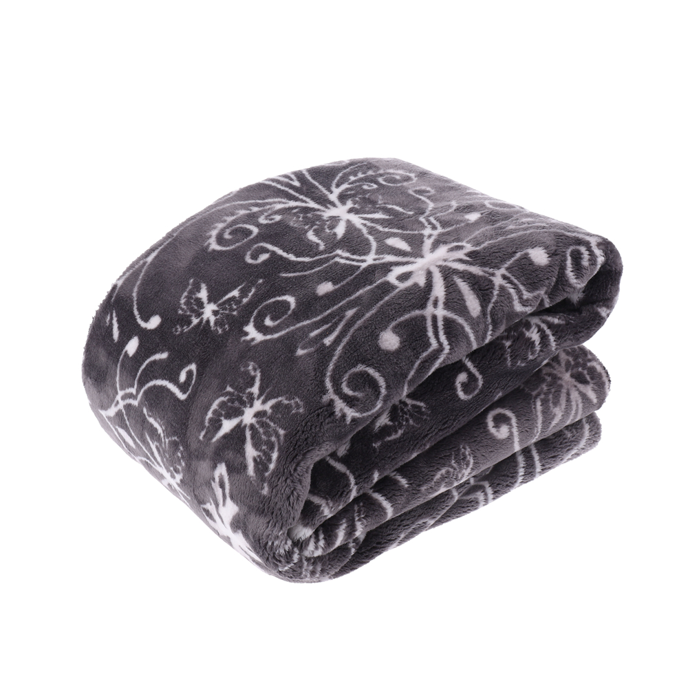Heavy weight printed flannel throw