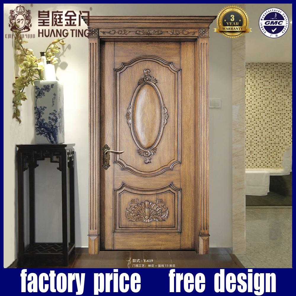 European House wood door interior home design