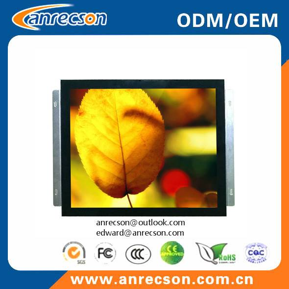 "17"" industrial capacitive touch screen open frame LCD monitor"
