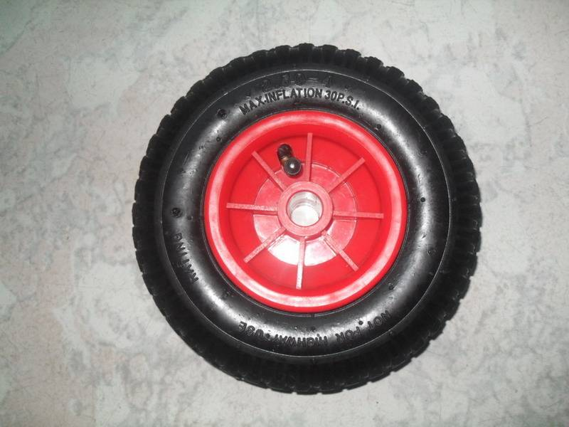 solid wheel or pneumatic wheel 250-4with plastic rim