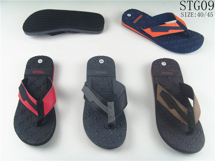 Personalized flip flops cheap eva sole material outdoor beach summer slipper men