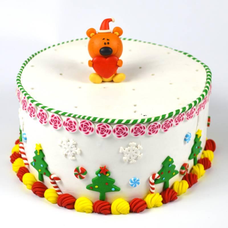Handmade lovely dog cake decoration topper
