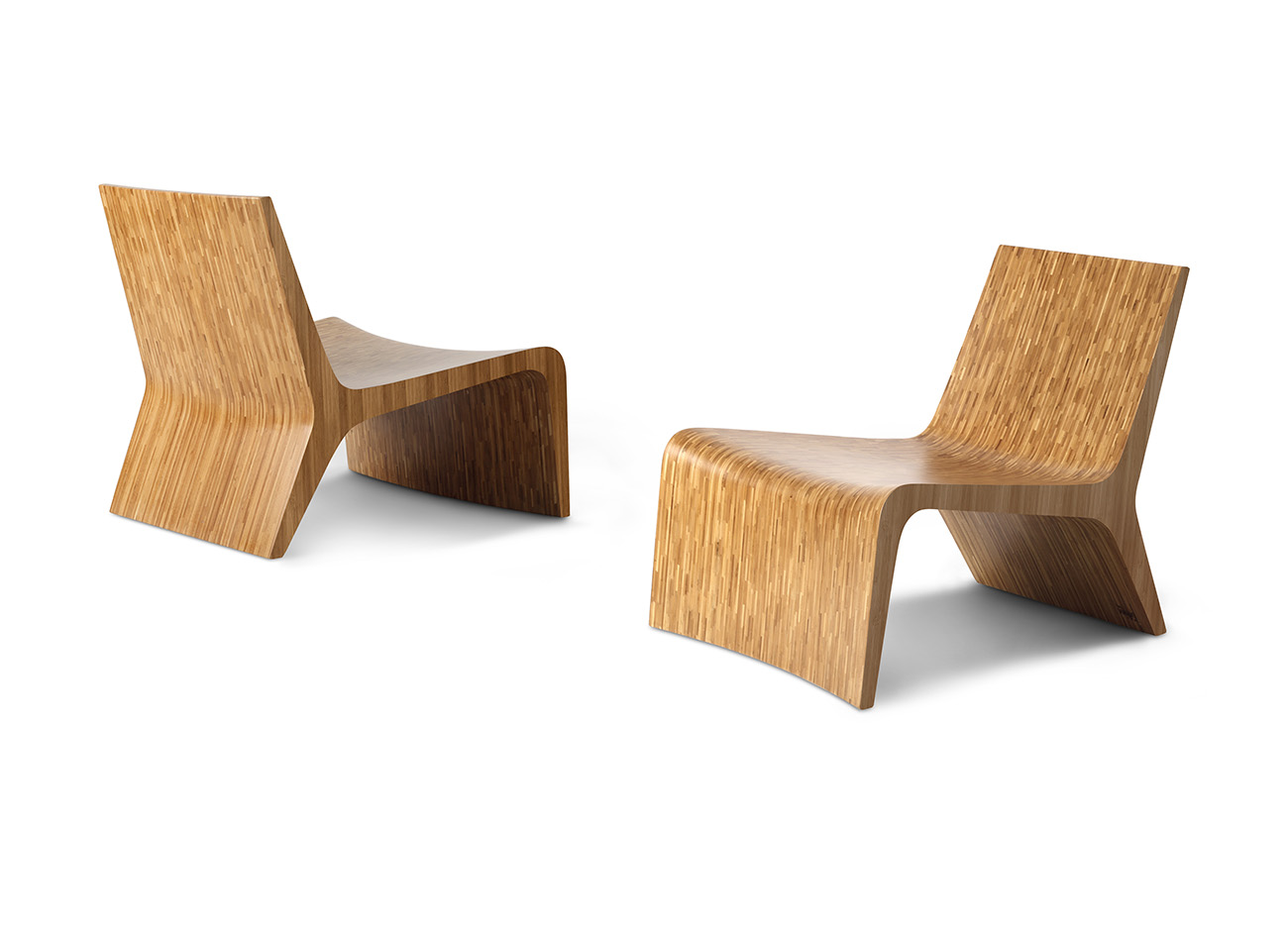 New design Solid Bamboo Lounge Chair 6023