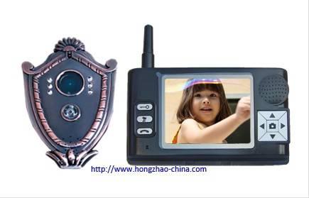 2.4g 3.5 inch wireless video intercom door viewer