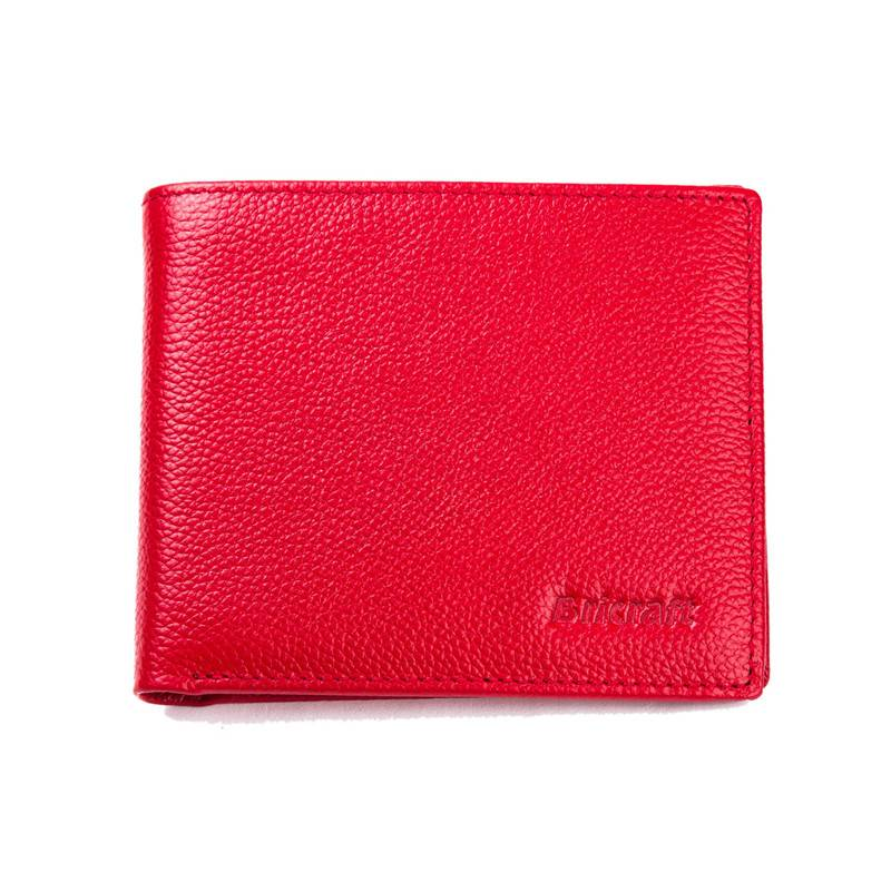 Fashion Design Red RFID Blocking Leather Wallet Shielded Card Holder
