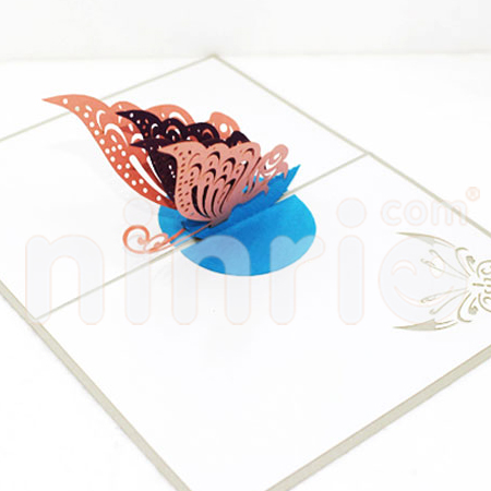 Colorful butterfly Pop Up Card Handmade Greeting Card