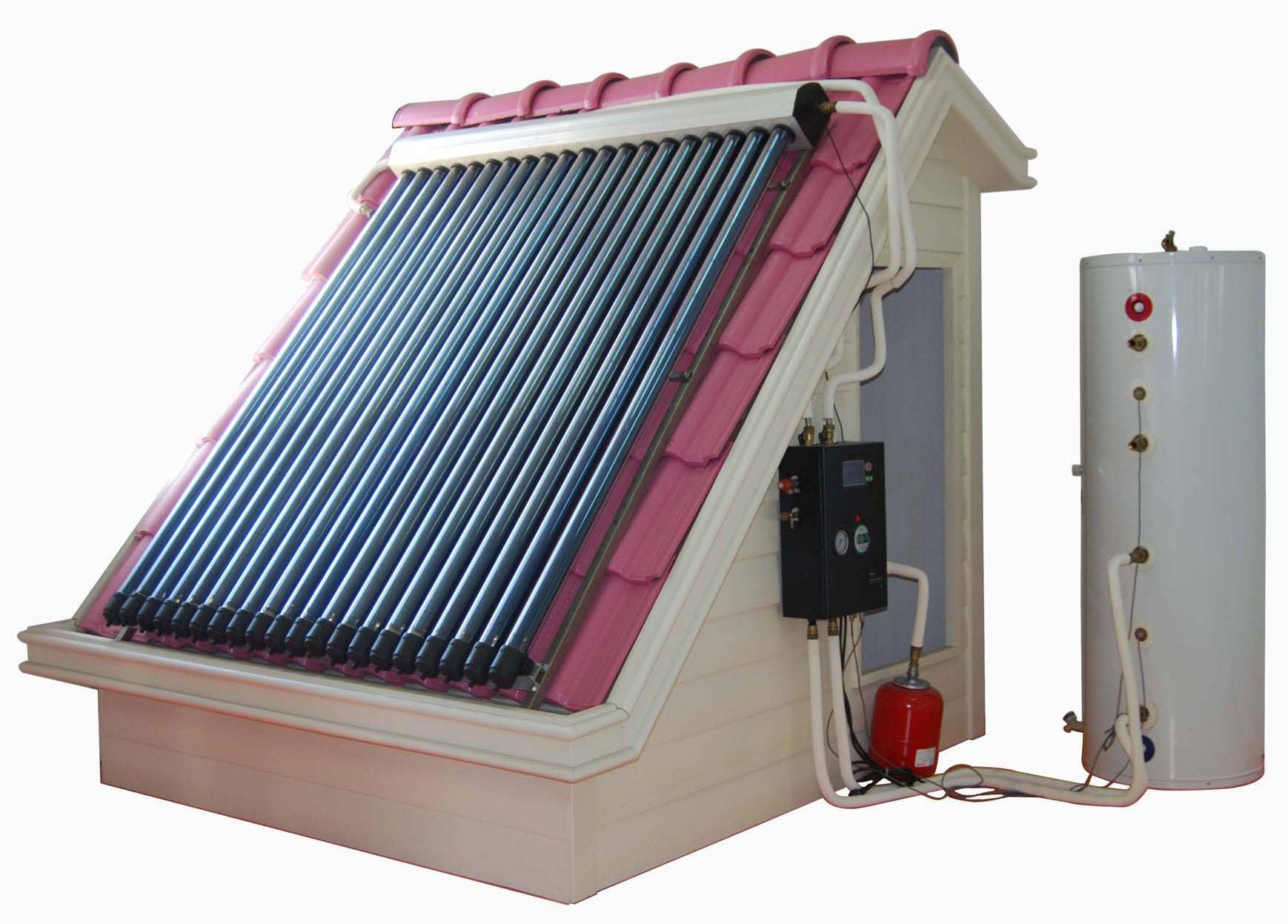 Split high pressure solar water heating system