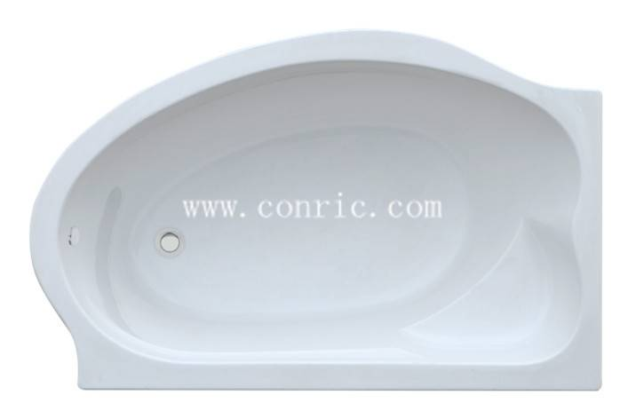 Special shape bathroom drop-in acrylic bathtub