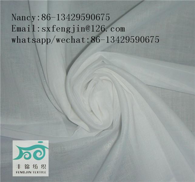 100% rayon viscose fabric R60X60 90X88 white at stock