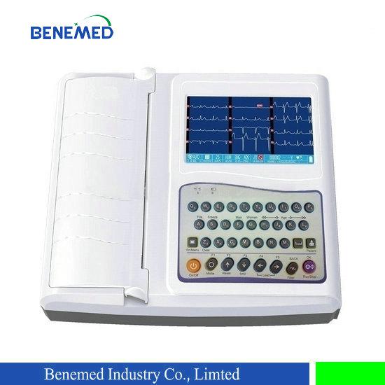 Hiight Quality Portale Digital 12 Channel 12 Lead ECG Machine
