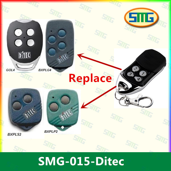 DITEC GOL4C Replacement, Compatible remote control transmitter, clone 433,92MHz