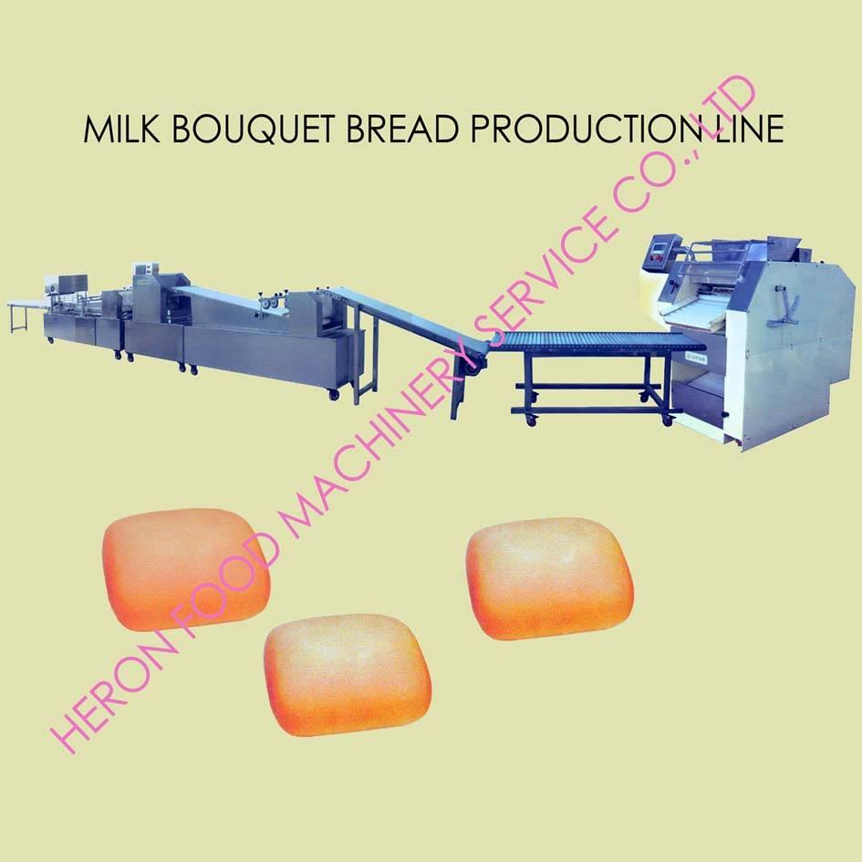 milk bouquet bread production line
