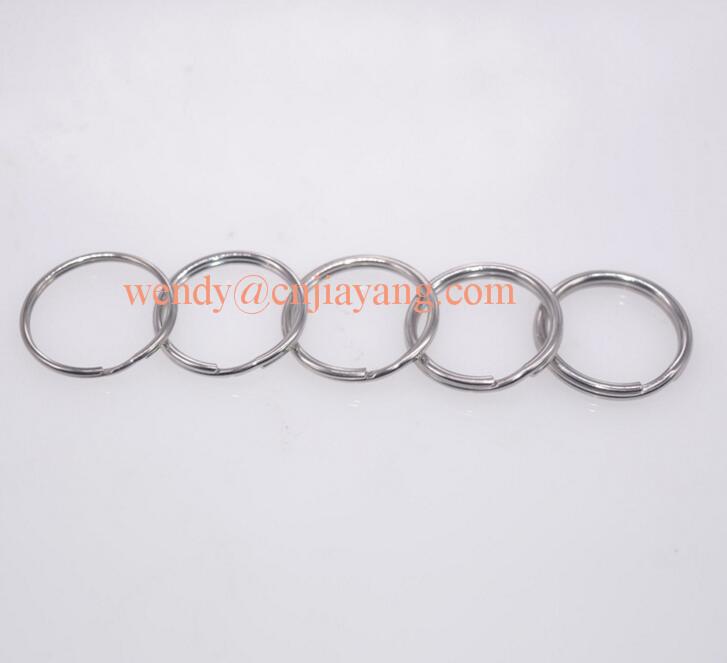 jiayang factory price silver round key ring
