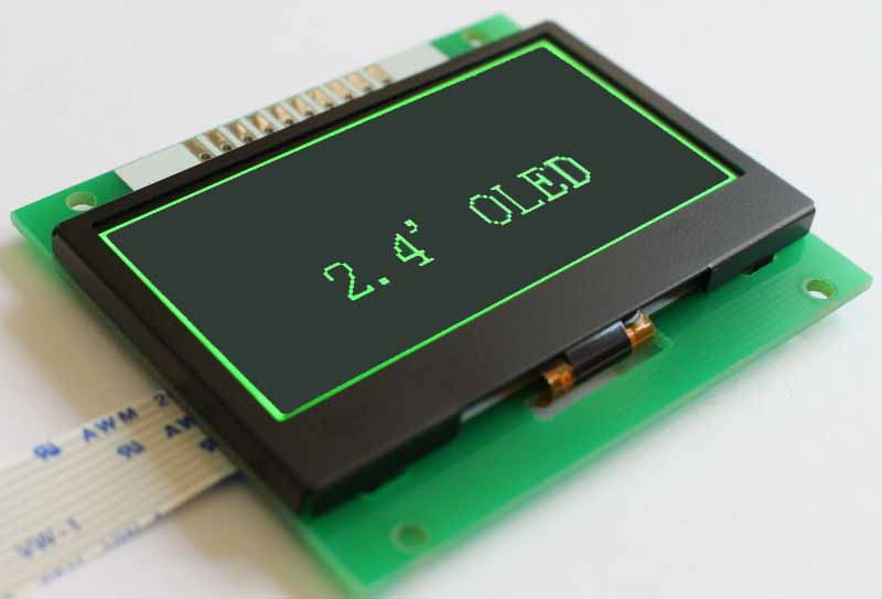 2.4 inch 128×64 PMOLED Monochrome Green Yellow Custom