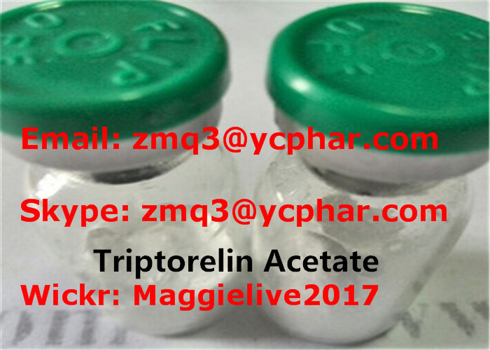Raw Peptide Hormone 2mg/vial Triptorelin Acetate For Muscle Building CAS 57773-63-4
