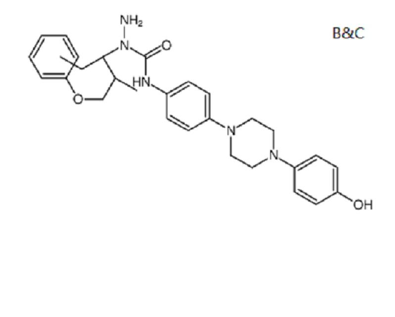 1-amino-3-[4-[4-(4-hydroxyphenyl)piperazin-1-yl]phenyl]-1-[(2S,3S)-2-methyl-1-phenoxypent345217-02-9