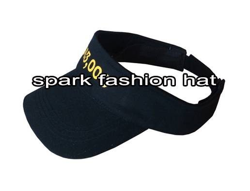 100% cotton sun visor hat with printing logo