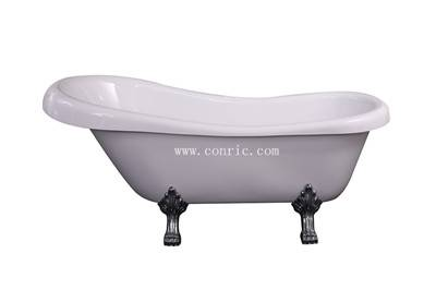 Classical Freestanding Bathtub with 4 zinc Legs