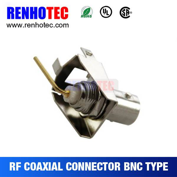 Made in China 90 BNC Jack PCB Mount Coaxial Connectors RF Magnetic Electronic Connectors