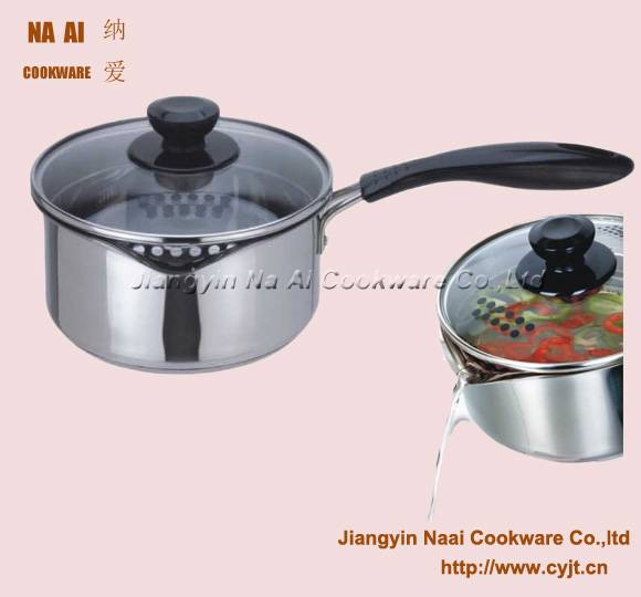 Multiuse Cooking Pot with visible Wide-rim Glass Lid