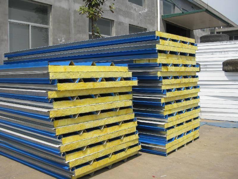 color steel rockwool sandwich panels for roof