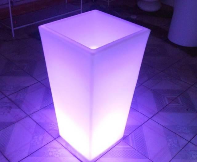 LED flower planter, vase, pot