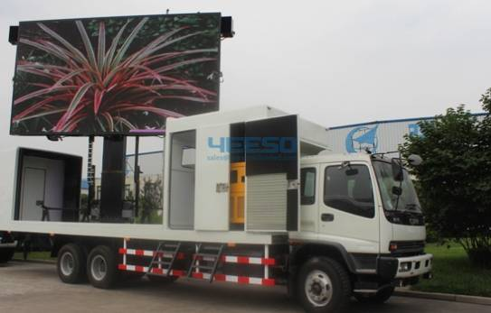 P10 Outdoor Full Color LED Screen, Mobile Truck, Mobile Advertising with Giant Screen LED